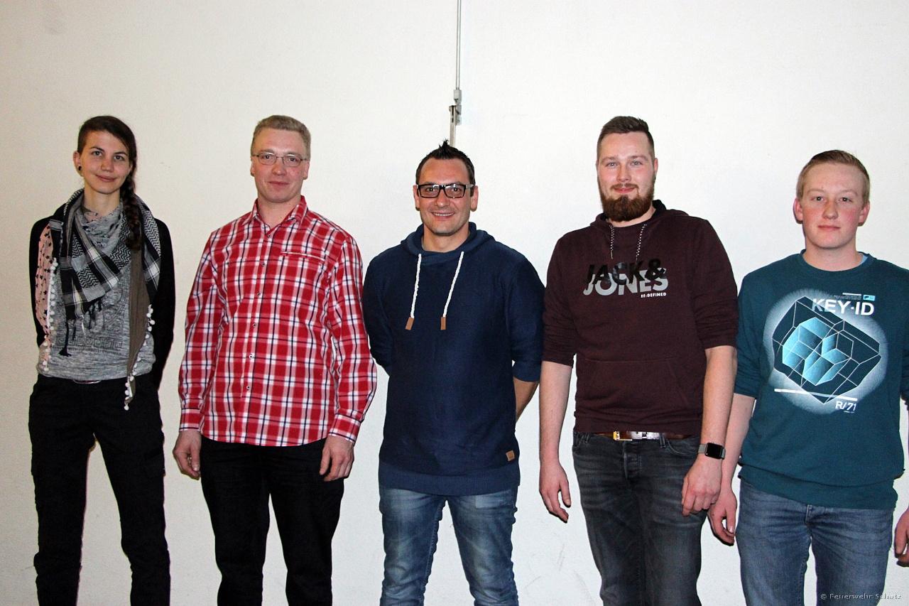 Unsere Neuen: Larissa Zingg, Andreas Käser, Mathias Biller, Simon Bammert, Martin Steinmann. Herzlich Willkommen!